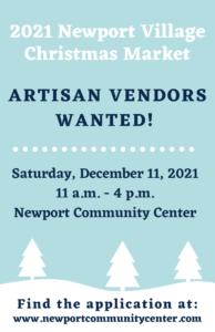 Call for Vendors Newport Christmas Market